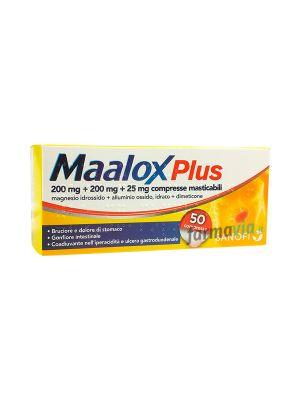 MAALOX PLUS 200MG+200MG+50MG DA 50 COMPRESSE MASTICABILI