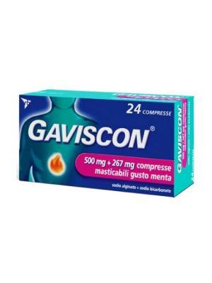 GAVISCON  500MG + 267MG 24 COMPRESSE MASTICABILI AL GUSTO MENTA