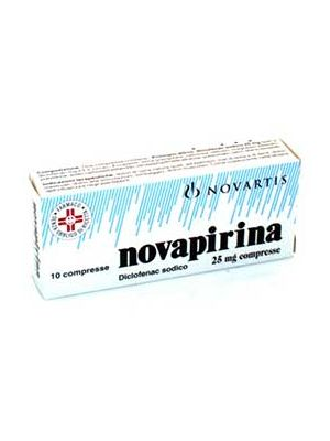 NOVAPIRINA 10 COMPRESSE RIVESTITE 25MG