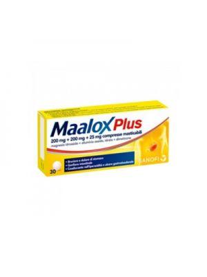 MAALOX PLUS 200MG+200MG+25MG 30 COMPRESSE MASTICABILI