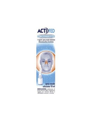 ACTIFED DECONGESTIONANTE 1MG/ML SPRAY NASALE DA 10ML