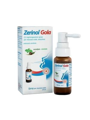 ZERINOL GOLA 2,5 MG SPRAY PER MUCOSA ORALE 20ML