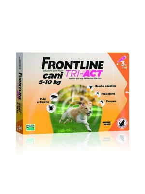 FRONTLINE TRI-ACT 3 PIPETTE 1ML PER CANI 5-10KG