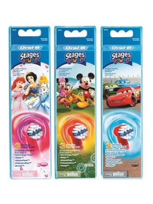 TESTINE SOSTITUTIVE ORAL-B STAGES POWER 3 PEZZI
