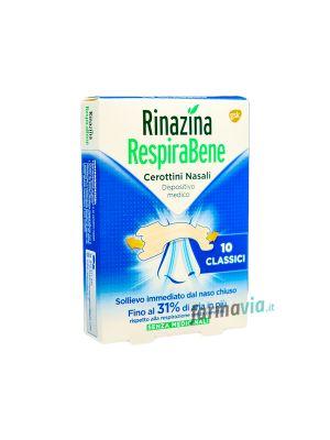 RINAZINA RESPIRABENE CLASSICI 10 CEROTTINI NASALI
