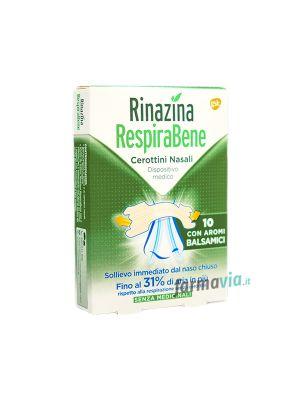 RINAZINA RESPIRABENE 10 CEROTTINI NASALI CON AROMI BALSAMICI