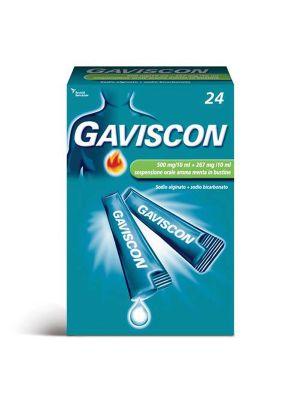 GAVISCON 500MG/10ML +267MG/10ML DA 24 BUSTINE GUSTO MENTA